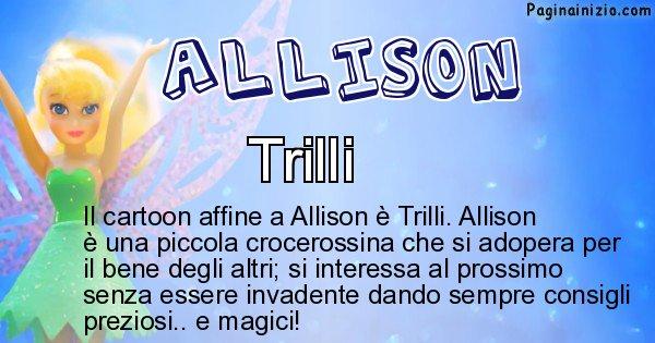 Allison - Personaggio dei cartoni associato a Allison