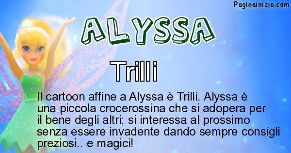 Alyssa - Personaggio dei cartoni associato a Alyssa