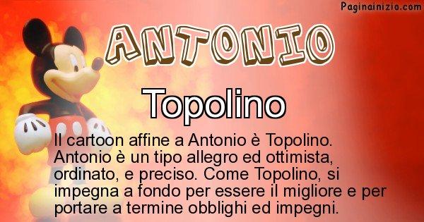 Antonio - Personaggio dei cartoni associato a Antonio
