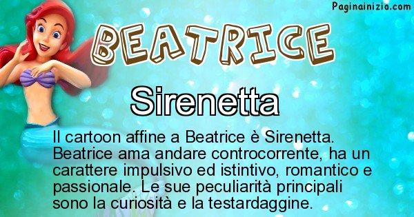 Beatrice - Personaggio dei cartoni associato a Beatrice