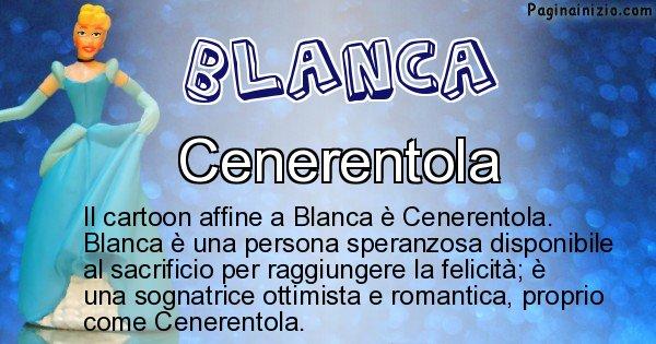 Blanca - Personaggio dei cartoni associato a Blanca