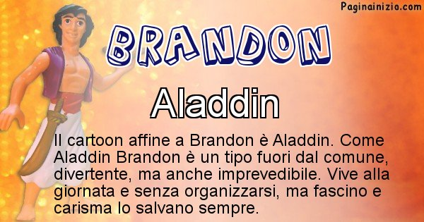 Brandon - Personaggio dei cartoni associato a Brandon