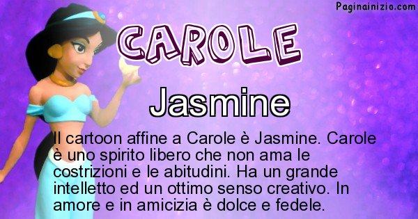 Carole - Personaggio dei cartoni associato a Carole