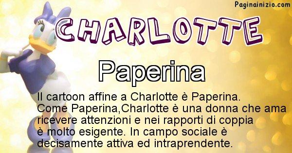 Charlotte - Personaggio dei cartoni associato a Charlotte