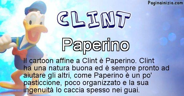 Clint - Personaggio dei cartoni associato a Clint