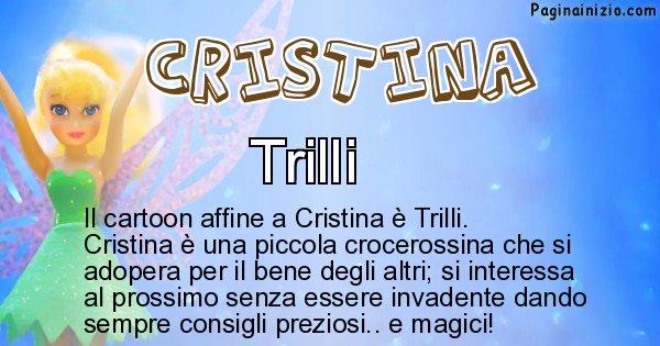 Cristina - Personaggio dei cartoni associato a Cristina