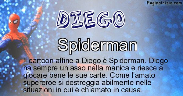 Diego - Personaggio dei cartoni associato a Diego