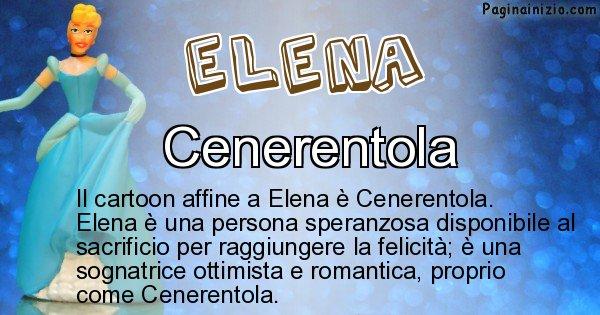 Elena - Personaggio dei cartoni associato a Elena