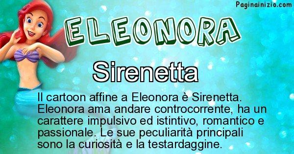 Eleonora - Personaggio dei cartoni associato a Eleonora