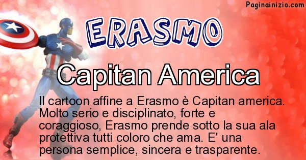 Erasmo - Personaggio dei cartoni associato a Erasmo