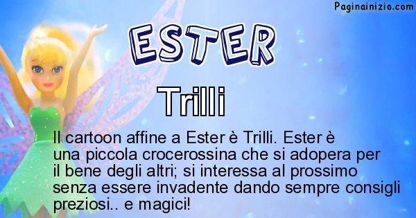 Ester - Personaggio dei cartoni associato a Ester