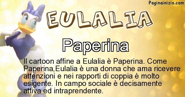 Eulalia - Personaggio dei cartoni associato a Eulalia