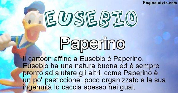 Eusebio - Personaggio dei cartoni associato a Eusebio