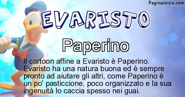 Evaristo - Personaggio dei cartoni associato a Evaristo