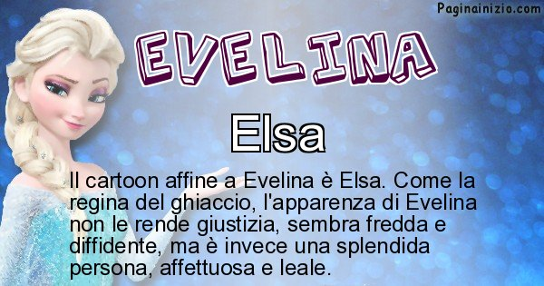 Evelina - Personaggio dei cartoni associato a Evelina