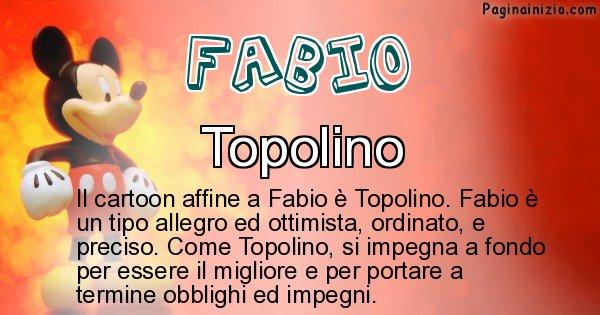 Fabio - Personaggio dei cartoni associato a Fabio