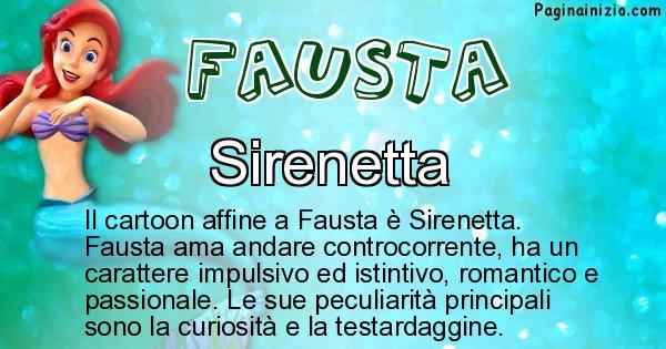 Fausta - Personaggio dei cartoni associato a Fausta