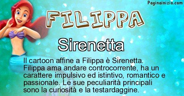 Filippa - Personaggio dei cartoni associato a Filippa