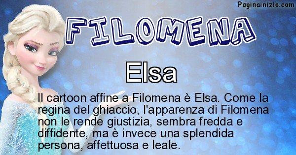 Filomena - Personaggio dei cartoni associato a Filomena