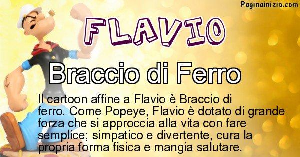 Flavio - Personaggio dei cartoni associato a Flavio
