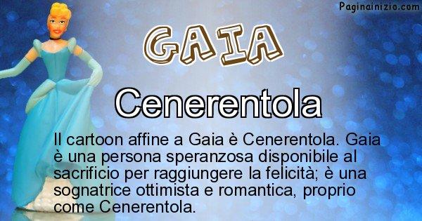Gaia - Personaggio dei cartoni associato a Gaia
