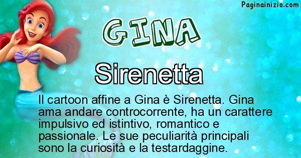Gina - Personaggio dei cartoni associato a Gina