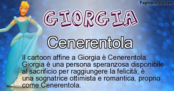 Giorgia - Personaggio dei cartoni associato a Giorgia