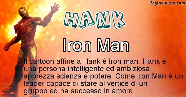 Hank - Personaggio dei cartoni associato a Hank