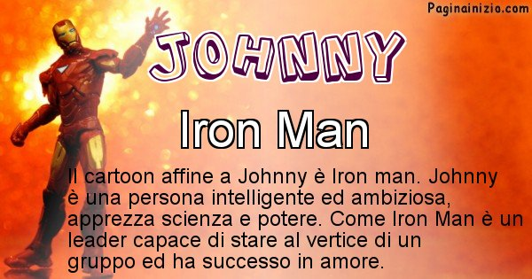 Johnny - Personaggio dei cartoni associato a Johnny