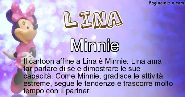 Lina - Personaggio dei cartoni associato a Lina
