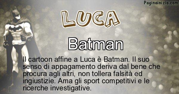 Luca - Personaggio dei cartoni associato a Luca