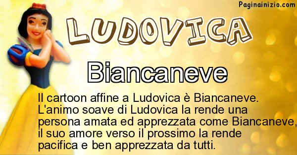 Ludovica - Personaggio dei cartoni associato a Ludovica