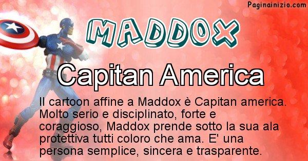 Maddox - Personaggio dei cartoni associato a Maddox