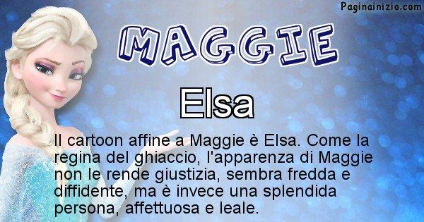 Maggie - Personaggio dei cartoni associato a Maggie