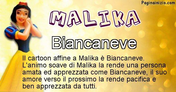 Malika - Personaggio dei cartoni associato a Malika