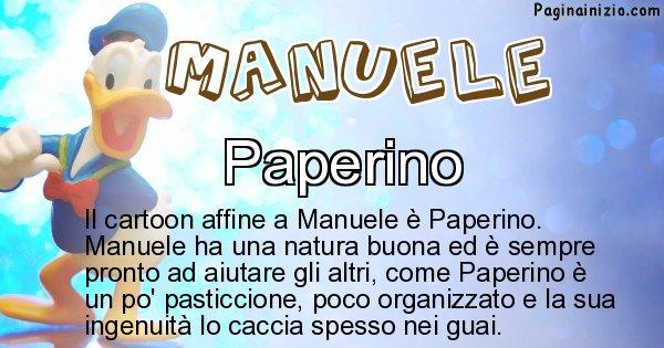 Manuele - Personaggio dei cartoni associato a Manuele