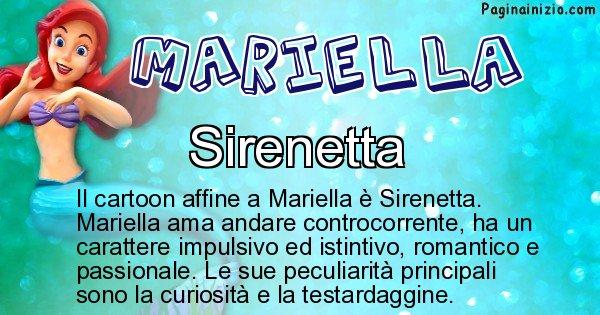 Mariella - Personaggio dei cartoni associato a Mariella