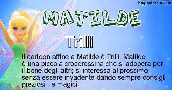 Matilde - Personaggio dei cartoni associato a Matilde
