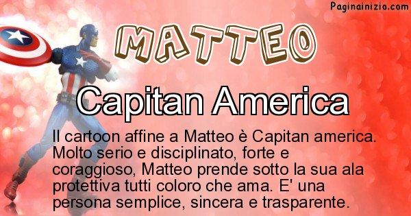 Matteo - Personaggio dei cartoni associato a Matteo