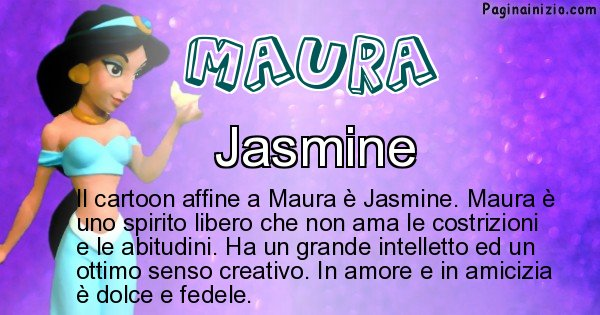 Maura - Personaggio dei cartoni associato a Maura
