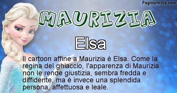 Maurizia - Personaggio dei cartoni associato a Maurizia