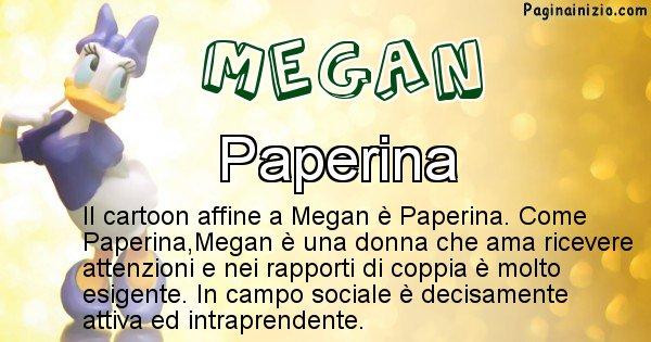 Megan - Personaggio dei cartoni associato a Megan