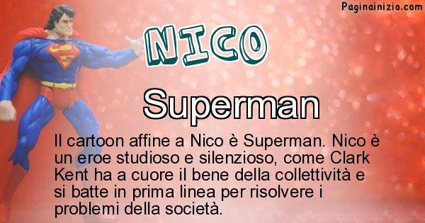 Nico - Personaggio dei cartoni associato a Nico