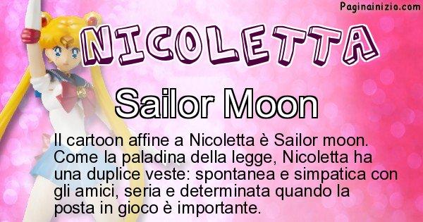 Nicoletta - Personaggio dei cartoni associato a Nicoletta