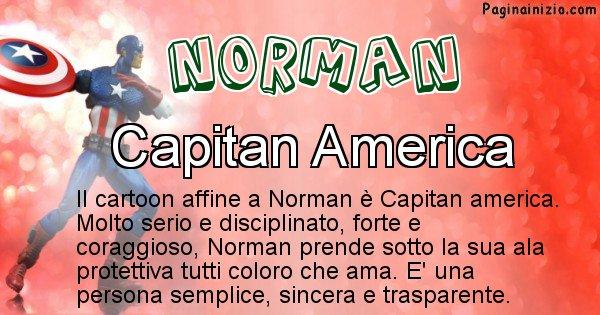 Norman - Personaggio dei cartoni associato a Norman