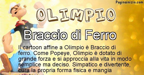 Olimpio - Personaggio dei cartoni associato a Olimpio