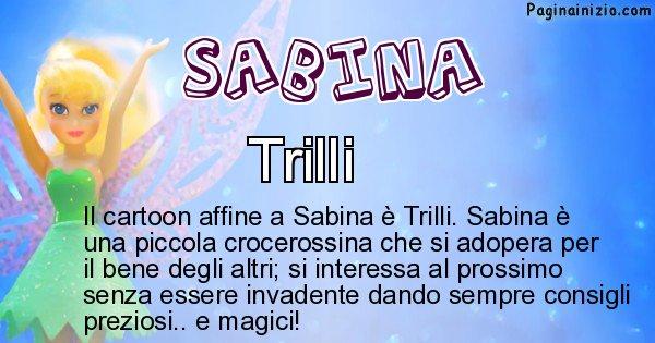 Sabina - Personaggio dei cartoni associato a Sabina