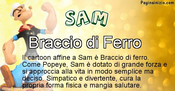 Sam - Personaggio dei cartoni associato a Sam
