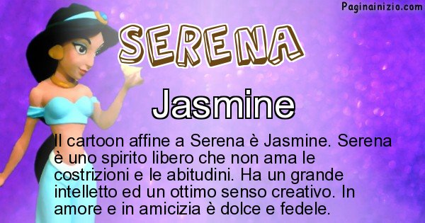 Serena - Personaggio dei cartoni associato a Serena