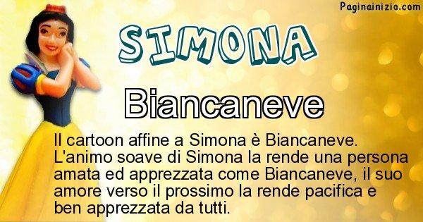 Simona - Personaggio dei cartoni associato a Simona
